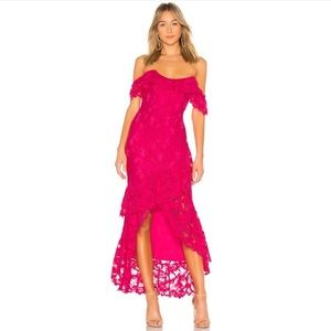 FINAL Lovers + Friends Rosewater Lace Gown Pink S